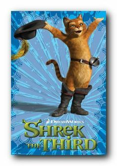 *PUSS-IN-BOOTS ~ Shrek 3 Movie Poster
