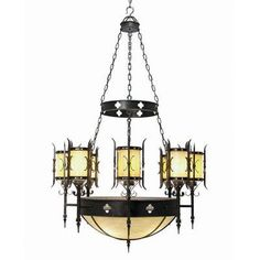 2nd Ave Design Sabrina 12 Light Shaded Chandelier Finish: French Bronze