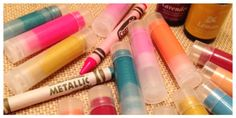 DIY Crayon Lip Balm | Kid Made Gifts