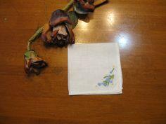 Flowered Hankie, Handkerchief, Vintage Collectible, Vintage  Hanky, Bride Hankies, Wedding Hankies  by NormasTreasures on etsy by NormasTreasures on Etsy