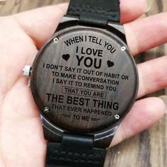 To My Husband-I Am Proud To Be Your Wife Engraved Wooden Watch Men Watch Luxury Watches Birthday Holiday Anniversary Gifts - Jojobay Store Gifts For Husband, To My Future Husband, Gifts For Him, Bf Gifts, Funny Gifts, Mom Son, Daddy Gifts, Dear Future, Geek Gifts