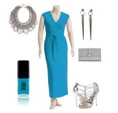 Our 'Shala' dress never lets us down! #plussize #blue #wrapdress #wrap #dress ^CD