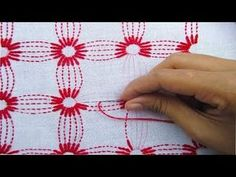 Ideas For Embroidery Designs Tutorials Hand Embroidery Videos, Hand Embroidery Flowers, Embroidery Stitches Tutorial, Embroidery On Clothes, Learn Embroidery, Silk Ribbon Embroidery, Hand Embroidery Patterns, Embroidery Techniques, Kasuti Embroidery
