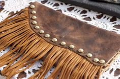 the virginian clutch with fringe by Emily Rosendahl
