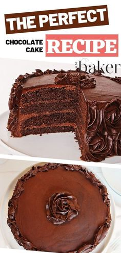 A truly moist and flavorful Chocolate Cake that perfectly melts in your mouth! Decorate anything you wish as it will always taste delicious from inside and out. No more dry cakes with this superb recipe! Save this pin for later! Cake Recipes At Home, Easy Cake Recipes, Cupcake Recipes, Dessert Recipes, Icing Recipes, Yummy Recipes, Recipies, Chocolate Desserts, Easy Desserts