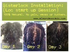 Almond Avocado - Sisterlocks and Holistic Hair & Body Services: Sisterlocks Installation Photos 2013