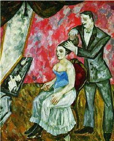 Mikhail Larionov (1881-1964): barbers inPrimitivist manner