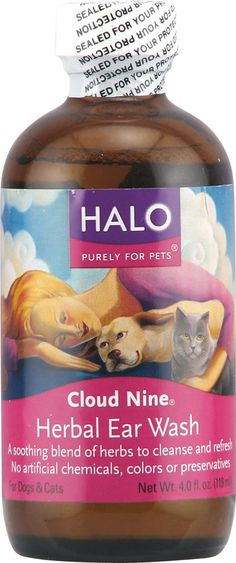 Halo Purely For Pets Cloud Nine® Herbal Ear Wash for Cats and Dogs