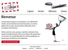 La Factoria a réalisé le site d'Accentonique, une agence éditoriale Parisienne.