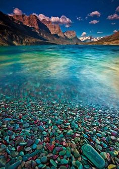 Travel - Glacier Stones St Mary Lake, Glacier National Park, Montana by Jeff Jessing on Top Honeymoon Destinations, Best Honeymoon, Us Honeymoon Ideas, Us Travel Destinations, Vacation Travel, Usa Travel, Dream Vacations, Vacation Spots, Parc National
