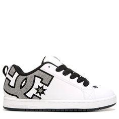 DC Shoes Men's Court Graffik SE Skate Shoes (White/Heather Grey)