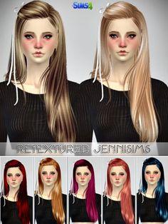 Jenni Sims: Butterflysims 099,132,136 Hairs retextured • Sims 4 Downloads