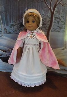 Winter Princess Regency Gown and cape set for American Girl doll Caroline by NewYorkDollDesigns | eBay