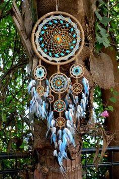 Blue Sand Dreamcatcher (Ten Hoops)