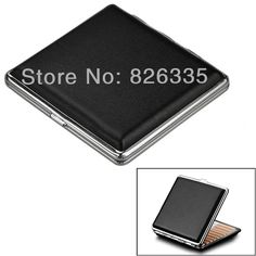 Classic Leather & Alloy  Cigarette Case Box Metal Holder 20pcs 84MM Cigars Container for Lighter #clothing,#shoes,#jewelry,#women,#men,#hats,#watches,#belts,#fashion,#style