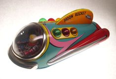 Vintage Moon Rocket by Modern Toys Japan 1960's Battery Operated TIn Toy. $158.50, via Etsy.