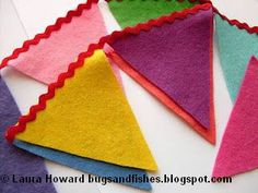 Bugs and Fishes by Lupin: How To: Quick and Easy Felt Bunting