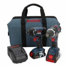 Bosch CLPK243-181 18-Volt Lithium-Ion 2-Tool Combo Kit with 1/2-Inch Drill/Driver, Impact Driver, 2 High Capacity Batteries, Charger and Case Bosch http://www.amazon.com/dp/B005JRJBXG/ref=cm_sw_r_pi_dp_dbzavb005GEKR