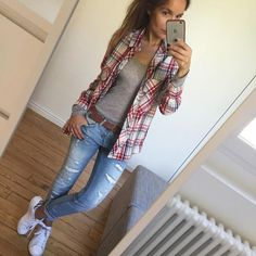 Bequemes Outfit # ootd # dailylook # dailyoutfit # igfashion # fashionpost # fashiondiaries # comfylook # wiwt # metoday top # americanvintage… - Pin to Pin Comfy Fall Outfits, Spring Outfits, Casual Outfits, Comfy Outfit, Outfit Work, Outfit Summer, Casual Summer, Casual Dresses, Sneakers Fashion Outfits