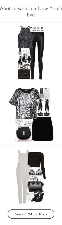 What to wear on New Year's Eve by ferned on Polyvore featuring Helmut Lang, NLY Trend, Stuart Weitzman, philosophy, The Horse, OPI, Yves Saint Laurent, Forever 21, Paul & Joe Sister and Casetify