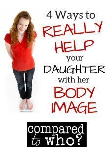 A totally interesting perspective on what we REALLY need to do to help our daughters with body image. Thoughtful list for moms of daughters of ALL ages.