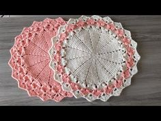 Sousplat Jolie 🌸Sousplat de Croche #encantocroche - YouTube Crochet Tablecloth, Crochet Doilies, Crochet Hats, Front Mehndi Design, Crochet Designs, Crochet Patterns, Crochet Carpet, Crochet Decoration, Flower Embroidery Designs