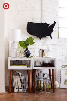 Feeling lost? Find yourself with the Room Essentials Marquee Metal Map, an unexpected addition that'll make wherever you are feel like home.