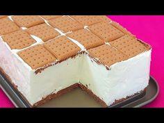Prajitura ieftina, simpla cu doar 20 lei (4 euro) fara coacere - YouTube Romanian Desserts, Tiramisu, Lei, Cheesecake, Deserts, Dessert Recipes, Favorite Recipes, Sweets, Euro