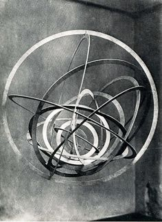 hanging sculpture1920. Alexander Rodchenko was a Russian artist, sculptor, photographer and graphic designer. He was one of the founders of constructivism and Russian design; he was married to the artist Varvara Stepanova.