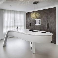 Bancada de cozinha em HI-MACS® HI-MACS® for kitchen worktop by HI-MACS® by LG Hausys Europe