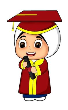 Graduation Cartoon, Muslim Pictures, Cute Sketches, Islam For Kids, Hijab Cartoon, Poster Drawing, Islamic Images, Graduation Decorations, Banner Vector