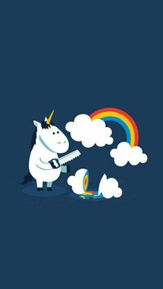 unicorn, rainbow, and clouds kép