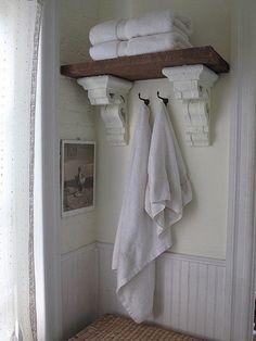 Corbels in the bathroom