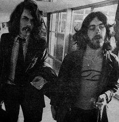 Michael Giles and Ian McDonald at Heathrow Airport | October 27, 1969