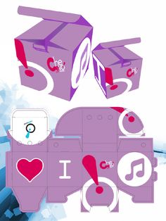 "Packaging da collezione Costumi nuoto Swimwear - ""I love music"""