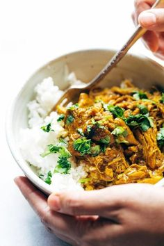 Instant pot recipes 452611831297897495 - Coconut Tandoori Chicken made with rich spices and creamy coconut milk. Ridiculously easy (like, 5 minutes hands-on time) and so, so yummy! My new favorite make-ahead freezer meal. Indian Food Recipes, Real Food Recipes, Chicken Recipes, Cooking Recipes, Healthy Recipes, Cooking Food, Clean Recipes, Pasta Recipes, Chicken Freezer