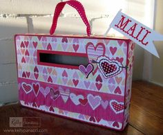 cereal box valentine holder | Valentine Mail Box from a cereal box
