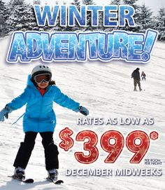 Celebrate with us this holiday season. Our magic includes Unlimited Horseback Riding through 500 acres, Winter Bonfires, Skating Center and when you're ready to warm up, it's always 85 degrees in our Big Splash Indoor Water Park. #snowmuchfun  #makingmemories  #yourfamilyhere