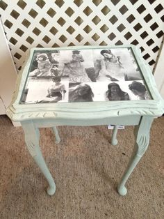 Old table = beautiful shabby chic project!