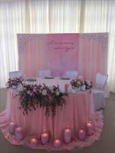 Президиум молодых в нежно розовом, пудровом цвете #stardecor