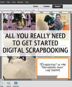 How to Get Organized to Start Digital Scrapbooking  via simplify101.com
