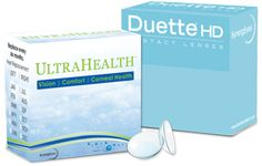 UltraHealth contact lenses are for keratoconus and other irregular cornea patients and Duette HD is ideal for patients with astigmatism and presbyopia.