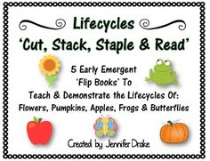 Cut, stack, staple and read books are great to use with early emergent readers! Reading patterns helps build fluency and confidence in young reader. Classroom Crafts, Science Classroom, Classroom Ideas, Life Science, Science Ideas, Science Lessons, Teaching Resources, Teaching Ideas