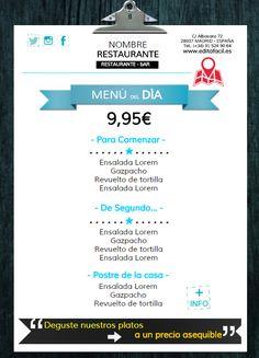 "Plantilla editable ""Carta menú""; www.editafacil.es"