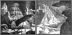 """Science Fiction and Fantasy Reading Experience: H. Lovecraft """"At the Mountains of Madness"""" <br />and other masterpieces of terror Call Of Cthulhu Rpg, Mountains Of Madness, Lovecraftian Horror, Hp Lovecraft, Pulp, Cg Art, Retro, Science Fiction, Animation"""