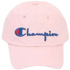 09ef19886a8 Champion Women Logo Woven Cotton Baseball Hat ( 97) ❤ liked on Polyvore  featuring accessories