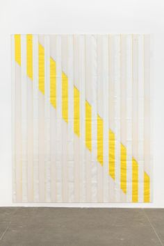 Daniel Buren yellow daniel buren, color, contemporari art, contemporary art, modern quilting patterns, art daili, bortolami, stripe, art pieces