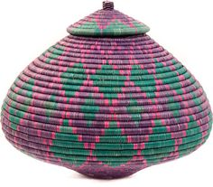 Uniquely Handwoven from Ilala Palm and grass, these baskets are wonderful examples of Zulu basket weaving.