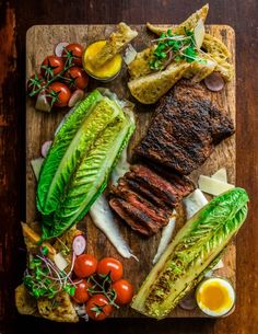 Need date-night dinner ideas? Check out this Grilled Steak Caesar Salad from Dennis the Prescott. Healthy Sandwich Recipes, Pureed Food Recipes, Cooking Recipes, Cooking Pork, Healthy Foods, Good Food, Yummy Food, Tasty, How To Grill Steak