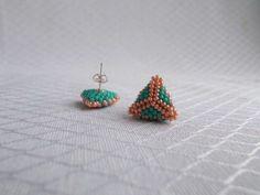Mini Beaded Earrings Turcoaz Coral - MichaelaBijoux | Crafty
